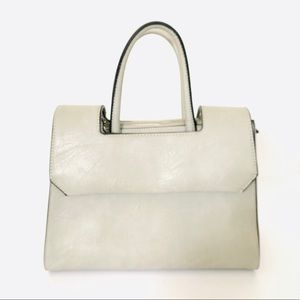 BCBG Grey Handbag with Button Closure- Like New